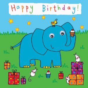 Childrens Birthday Card - Elephant